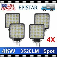 4X 48W 12V 24V SPOT Lamp Led Work Light Boat Tractor Truck Offroad SUV UTE 4X4WD