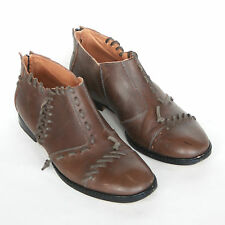 MAISON MARTIN MARGIELA 22 leather laced braided chunky oxford zipper shoes 36