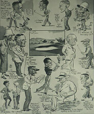 Bexhill New Highwood Golf Club Members 1933 Mel Caricatures Page Print 6994