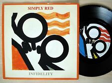 "Simply Red Infidelity ♫LISTEN♫ A-1 B-1 UK 7"" WEA YZ114 1987 EX/EX+"
