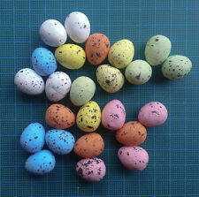 48 pastel egg styrofoam foam easter spring festive card topper decorative