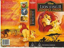 Vhs * The Lion King 2 - Simba's Pride * Walt Disney Home Video Animated Classic!