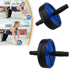 Ab Abdominal Gym Roller Slim Trim Tone Waist Arms Fitness Exercise Workout Wheel