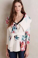 NWT Anthropologie Sleeping On Snow Winter Blossom Boiled Wool Sweater Jacket XS