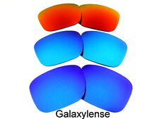 Galaxy Replacement Lenses For Oakley Holbrook Blue&Ice Blue&Fire Red 3Pairs