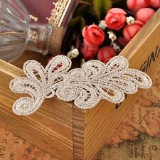10PCs Lace Appliques Trims DIY Cloth Paste Clips Embroidered Patches Headband