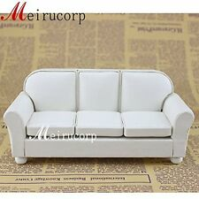 Dolls furniture Fine 1/12 scale Miniature well made white Living Room Sofa