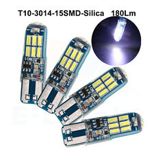4Pcs Constant/Strobe W5W T10 PCB 3014 15 SMD Led Bulbs Silica Car Lamp 180Lm 12V