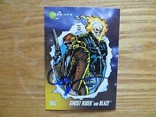 1992 MARVEL UNIVERSE 3 GHOST RIDER & BLAZE CARD SIGNED MARK 'TEX' TEXEIRA,POA