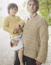Crochet Pattern ~ MANS & KIDS TRACK STITCH TUNIC TOP ~ Instructions