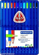 STAEDTLER Farbstift ergo soft jumbo Buntstift dreieckig 12er Box 158SB12 NEU&OVP