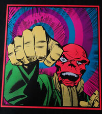 RED SKULL Marvel Third Eye tribute poster Captain America Kirby  poster Day Glow