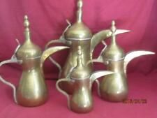 Dallah Very Old Graduated Musket Style Coffee Pots Signed Set of 4