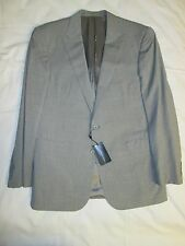 NWT Ralph Lauren Black Label Mens Light Gray 100% Wool Suit 46R $1795