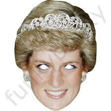 Princess Diana Royal Celebrity Card Face Mask - All Our Masks Are Pre-Cut!