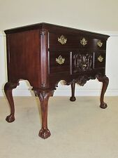 COUNCILL OVERSIZE MAHOGANY CHIPPENDALE STYLE LOW BOY CHEST, HALL CONSOLE
