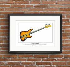 Jaco Pastorius' Fender Jazz Bass of Doom Limited Edition Fine Art Print A3 size