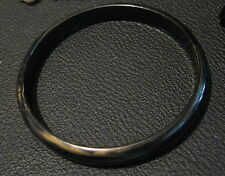 Lovely simple bangle with dark brown colour and lighter brown marbling