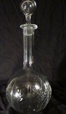 Baccarat, Carafe à Vin En Cristal Ciselé, Modèle Feuilles