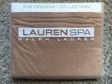 RALPH LAUREN SPA ORGANIC COLLECTION QUEEN SOLID FLAT SHEET OCHRA
