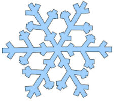 20 water slide nail art decals baby blue snowflakes Christmas trending