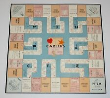 1955 Parker Brothers CAREERS replacement parts - Game Board - Very Nice
