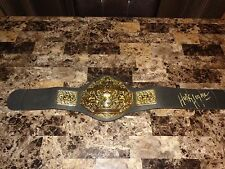 Hulk Hogan Rare Signed WWF WWE Prop Championship Wrestling Belt + Photo PROOF