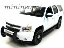 WELLY 22509WEP-W 2008 08 CHEVROLET TAHOE SUV 1/24 UNMARKED POLICE CAR WHITE