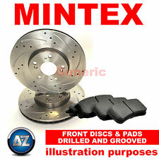 DG14467 FOR ISUZU D-MAX FRONT MINTEX DRILLED GROOVED BRAKE DISCS PADS