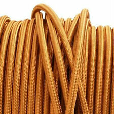 COPPER vintage style textile fabric electrical cord cloth cool cable