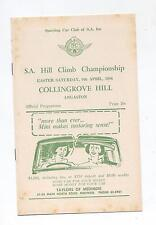 1966 Collingrove Hill Climb Programme Touring Racing Sports Vintage Production