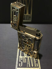 ST DUPONT NY 5TH AVE LINGE LINE 2 LIMITED EDITION GOLD LIGHTER PURPLE LACQUER