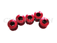 New Bicycle Bike Alloy 7075 Double Speed 8.5mm Chain Ring Bolt Nut Set Red