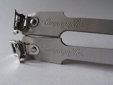 * Raro NOS Vintage 1980s Campagnolo Pista Bianco/manovelle leather toe straps *