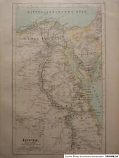 Landkarte von Ägypten, Hartleben´s Verlag um 1890, Lithographie