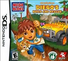 MEGA BLOKS: DIEGO'S BUILD AND RESCUE brand new video game for Nintendo DS