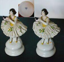 Paire de statuettes de danseuses