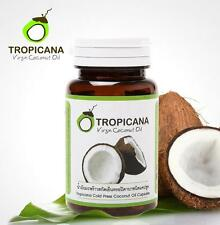 TROPICANA 100% Virgin Cold Pressed Coconut Oil 60 Capsules Control Weight Health