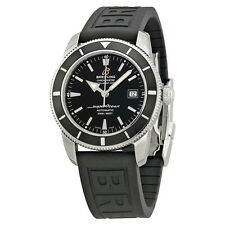 Breitling Superocean Heritage Automatic Black Dial Black Rubber Mens Watch