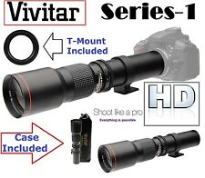 Ser-1 Vivitar 500mm Super HD Telephoto Lens For Canon EOS 6D 7D 7D Mark II 1D X