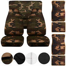 87-95 Jeep Wrangler Seat Covers & Floormats /Army Camo (31) Front & Rear & Mats