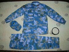 15's China PLA Hong Kong Navy Officer Digital Camo Combat Clothing,Set,Winter.