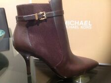 Michael Kors New !!! Woods Bootie, Mid Size Ladies Boots In DK Choc, Size 9.5M