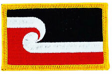 FLAG PATCH PATCHES MAORI NEW ZEALAND  IRON ON COUNTRY EMBROIDERED WORLD SMALL