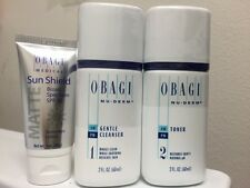 OBAGI NU-DERM TRAVEL SIZE GENTLE CLEANSER, TONER & TRAVEL SIZE SUN SHIELD SPF 50