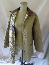 SALVATORE FERRAGAMO tan quilted nylon lightweight field coat jacket LARGE