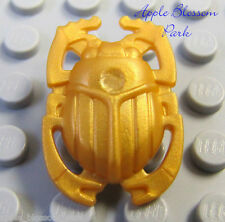 NEW Lego Minifig Pearl GOLD SCARAB SHIELD - Pharaoh Quest Beetle Armor Weapon