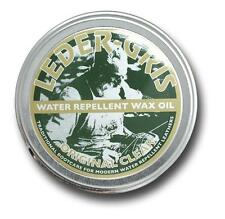 NEW - Leder Gris Wax Oil CLEAR Army Altberg Boot Polish - LARGE 80 gram Tin
