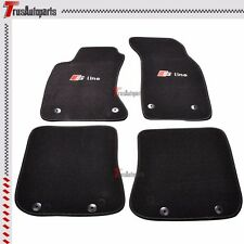 Fit 96-01 Audi A4 Sedan Wagon Black Nylon Floor Car Mat Carpets 4pcs Front Rear