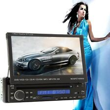 """7"""" LCD Touch Screen 1 DIN in-Dash Bluetooth Car DVD Player Radio Stereo SD IPOD"""